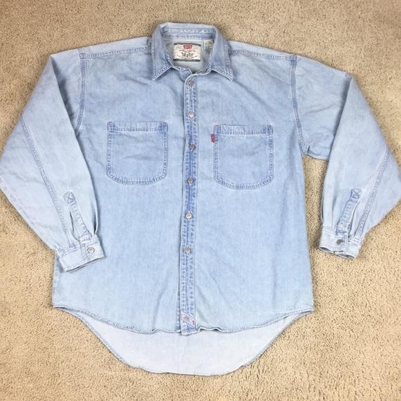 06c7b23544 Levi s Other - Levi s Button Denim Jean Shirt Men s Large